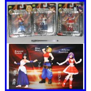 SET 3 FIGURE 10cm KING OF FIGHTERS GIRLS Kasumi Mary Athena KOF TOMY Rare
