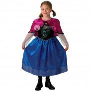 FROZEN Costume Carnevale ANNA PRINCIPESSA Versione DELUXE Originale DISNEY Rubie's