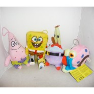 SET 4 Peluche SPONGEBOB Squarepants PATRICK GARY MR. CRAB 20cm OFFICIAL FILM NEW