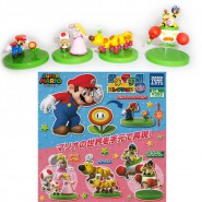 SET 4 Mini FIGURE Collezione SUPER MARIO TORCIBRUCO WIGGLER PEACH BOWSER Trading Figures Tomy Japan