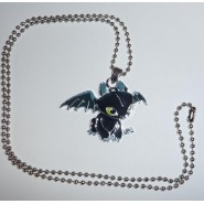 Dragon Trainer CIONDOLO Metallo SDENTATO Furia Buia COLLANA Pendant NECKLACE New