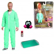 BREAKING BAD Action Figure JESSE PINKMAN Blue Hazmat Cook Suit 16cm MEZCO PX Exclusive