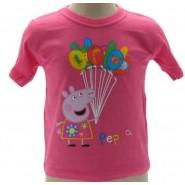 PEPPA PIG T-Shirt PALLONCINI Ufficiale ORIGINALE Varie Taglie Maglietta Tshirt