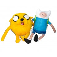 ADVENTURE TIME Coppia JAKE e FINN 2 Peluche 22 e 30cm ORIGINALI