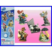 SET 5 FIGURE Personaggi DISNEY CLASSIC Cinemagic Tomy PINOCCHIO ARIEL DUMBO TOPOLINO WINNIE