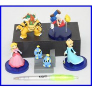 Raro SET 5 Figure SUPER MARIO GALAXY Peach BOWSER Mario TOMY Gashapon