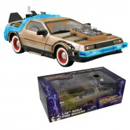 Plastic MODEL DeLorean BACK TO THE FUTUR Part 3 Scale 1/15 Sounds Lights DIAMOND