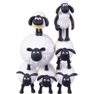 SHAUN THE SHEEP Set 7 Mini Figure TSUMU TSUMU 5cm Originali ARTBOX Vita Da Pecora