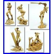 Set 5 Trading Figure JOJO BIZZARRE AVVENTURE Effetto SEPPIA Originali BANDAI Giappone