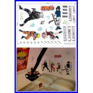 NARUTO  Originale GIANT STICKER SHEET 100x70cm for WALLS Rooms Cosplay etc.