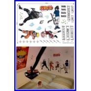 NARUTO Sticker Murali ADESIVI GIGANTI DA MURO Parte Camera Cosplay KAKASHI SASUKE