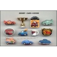 DISNEY Set 11 Figure Porcellana CARS Saetta Cricchetto