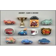 DISNEY Set 11 Figure Porcellana CARS Saetta Cricchetto FEVES Rare