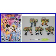NARUTO Set 5 Diversi Portachiavi con 10 Figure TOP QUALITY Rare BANPRESTO Japan