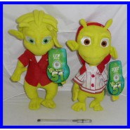SET Coppia 2 Peluche da PLANET 51 Alieni LEM e ECKLE 30cm Originali UFFICIALI Plush