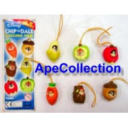 TOMY Set 6 Figure CIP CIOP PART 1 Laccetto DISNEY CHIP AND DALE Mini Winnies !!