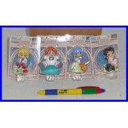 EVANGELION 4 FIGURE Collezione SEGNI ZODIACALI Sega GIAPPONE Rei Asuka Hikari !!