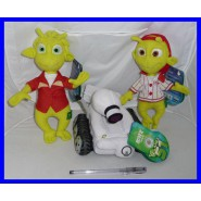 SET of 3 Plush from PLANET 51 Aliens LEM ECKLE Robot ROVER 20cm Original OFFICIAL