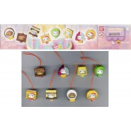 STUPENDO Set 8 Figure HELLO KITTY SWEETS con LACCETTO Ciondolo Danglers BANDAI