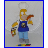 SIMPSONS Peluche 40cm HOMER BARBECUE Salsiccia Grill ORIGINALE