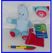Plush 15cm IGGLE PIGGLE From IN THE NIGHT GARDEN Rare HASBRO U.K.