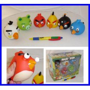 ANGRY BIRDS SET 6 Figure Grandi ANTI STRESS Morbidose BOX Nuove Iphone Gioco NEW