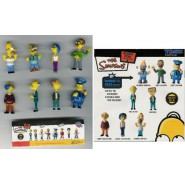 SIMPSONS Raro SET 8 Figure BOBBLE HEAD PART 2 Tomy HOMER BURNS NED NONNO etc.
