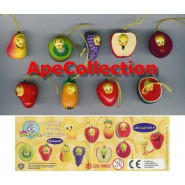 SET 9 Figure TITTI TWEETY FRUITS WEAR Mini Winnies Style ITALY Gashapon NEW MINT