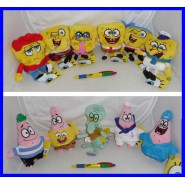 SET Lotto 11 Peluche SPONGEBOB Square Pants 15cm Originali Ufficiali NUOVI NEW