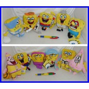 SET Lotto 11 Peluche SPONGEBOB Square Pants SPORT Version 15cm Originali NUOVI