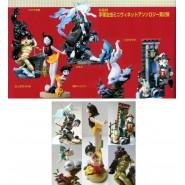 Rarissimo SET 5 Figure TEZUKA OSAMU Part 2 PADRE DEI MANGA Kaiyodo JAPAN Guarda