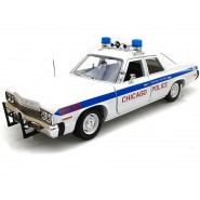 BLUES BROTHERS Model 1974 DODGE MONACO Scale 1:18 Car Police Chicago AUTOWORLD