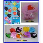 Set 9 Figures BARBAPAPA BARBALOVE GONFIABILI Inflatables MAXI LOVE