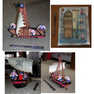 Gadget BEAGLE BOYS 's Pirate SHIP Beagle Boys DISNEY Limited PLAYSET Micky Mouse Magazine