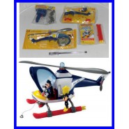 Rare Gadget CHIEF O'HARA ELICOPTER With MICKEY MOUSE 2 Figures PLAYSET Premium Weekly Issue