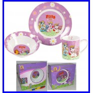 Offerta FILLY My Little Pony SET x BABY COLAZIONE Ceramica PIATTO TAZZA CIOTOLA