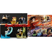 RARO Set 5 Figure ONE PIECE BATTLE PART 1 Gashapon BANDAI Japan