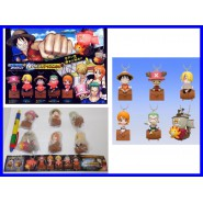 RARO Set 6 Figure ONE PIECE LIGHT DANGLERS Laccetti LUCE Gashapone BANDAI JAPAN