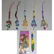 SAILOR MOON Stupendo SET 5 Diversi LACCETTI Danglers in BLISTER Japan NUOVO NEW