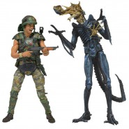 ALIENS Box 2 Figure Action HICKS Vs XENOMORPH WARRIOR ALIEN Neca USA 2-Pack NEW