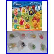 TOMY SET 8 Figures WINNIE POOH MUSICAL Mini Winnies Peek-A-Pooh RARE Danglers