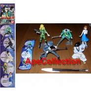 Complete SET 5 Figures LUPIN CAGLIOSTRO PART 1 Gashapon BANDAI JAPAN Jigen Goemon Fujiko