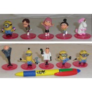 SET 10 Figures PINK Stand 5cm Characters Animated Cartoon Minions