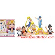ULTRA RARE Complete Set 7 Figures SAILOR MOON PART 5 Gashapon BANDAI JAPAN Original OLD