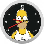 SIMPSONS Wall Clock HOMER Lenticular 3D