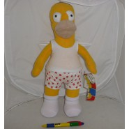 SIMPSONS Stupendo Peluche HOMER IN BOXER 35cm Originale Ufficiale UNITED LABELS