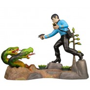 STAR TREK Figura Diorama MR. SPOCK Model Kit BOX METALLO Metal AMT Nuovo SKILL 2