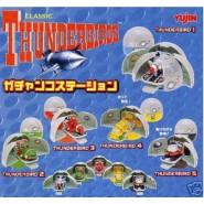 SET 5 Mini Diorama THUNDERBIRDS LAUNCH PODS Thunderbird 1 2 3 4 5 YUJIN JAPAN