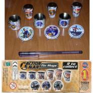 TOMY Set 9 Mini Tin Mugs ACTION MAN Tazze Piatti Metallo NUOVI NEW da Giappone !