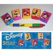 TOMY Set 5 Mini Proiettori TOPOLINO Mickey Mouse BOOK Viewers DISNEY